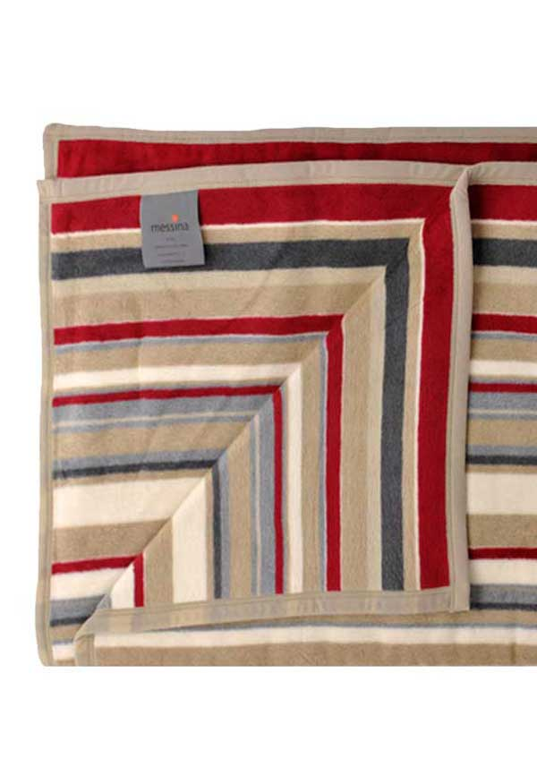 Ibena Jacquard Decke Messina Blanket, Striped Multi