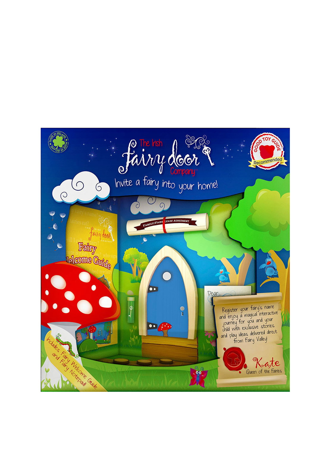 The Irish Fairy Door Company Arched Fairy Door, Blue