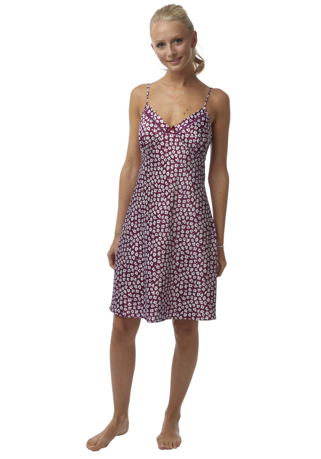 Indigo Sky Petal Print Nightdress, Purple