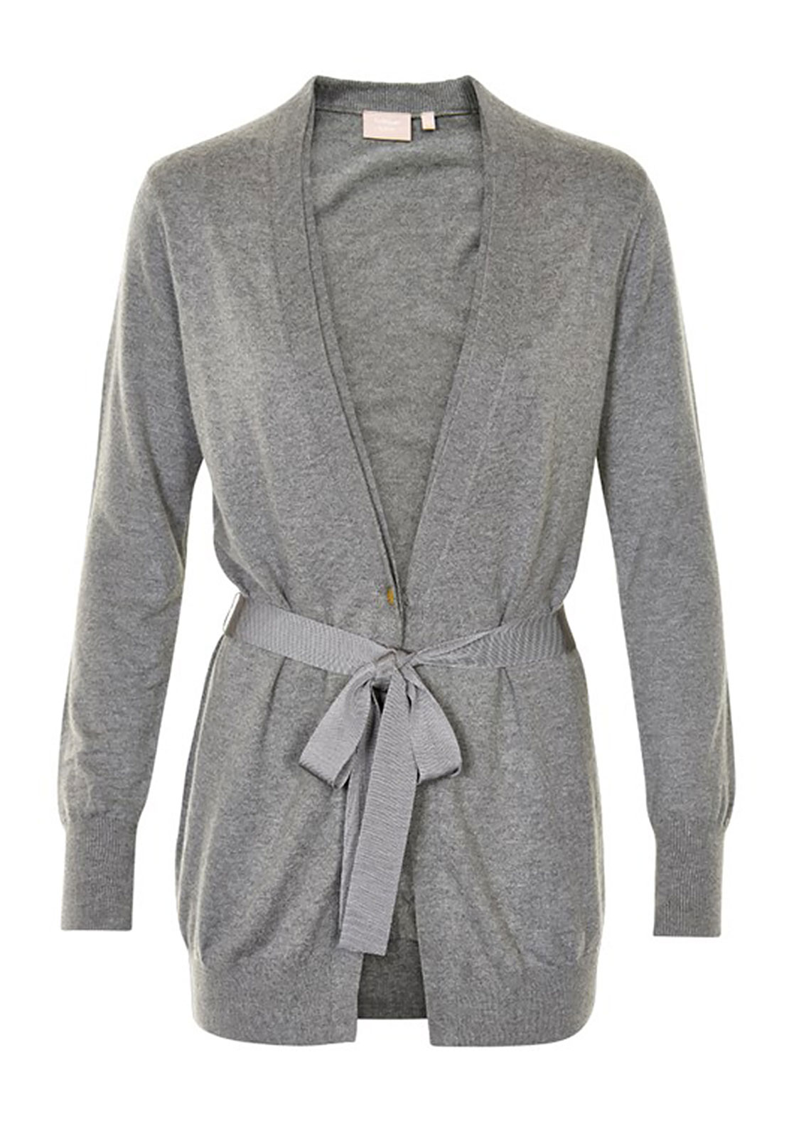 Inwear Lua Lace Trim Cardigan, Grey