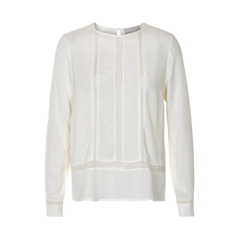 Inwear Pearl Peasant Blouse, Off White