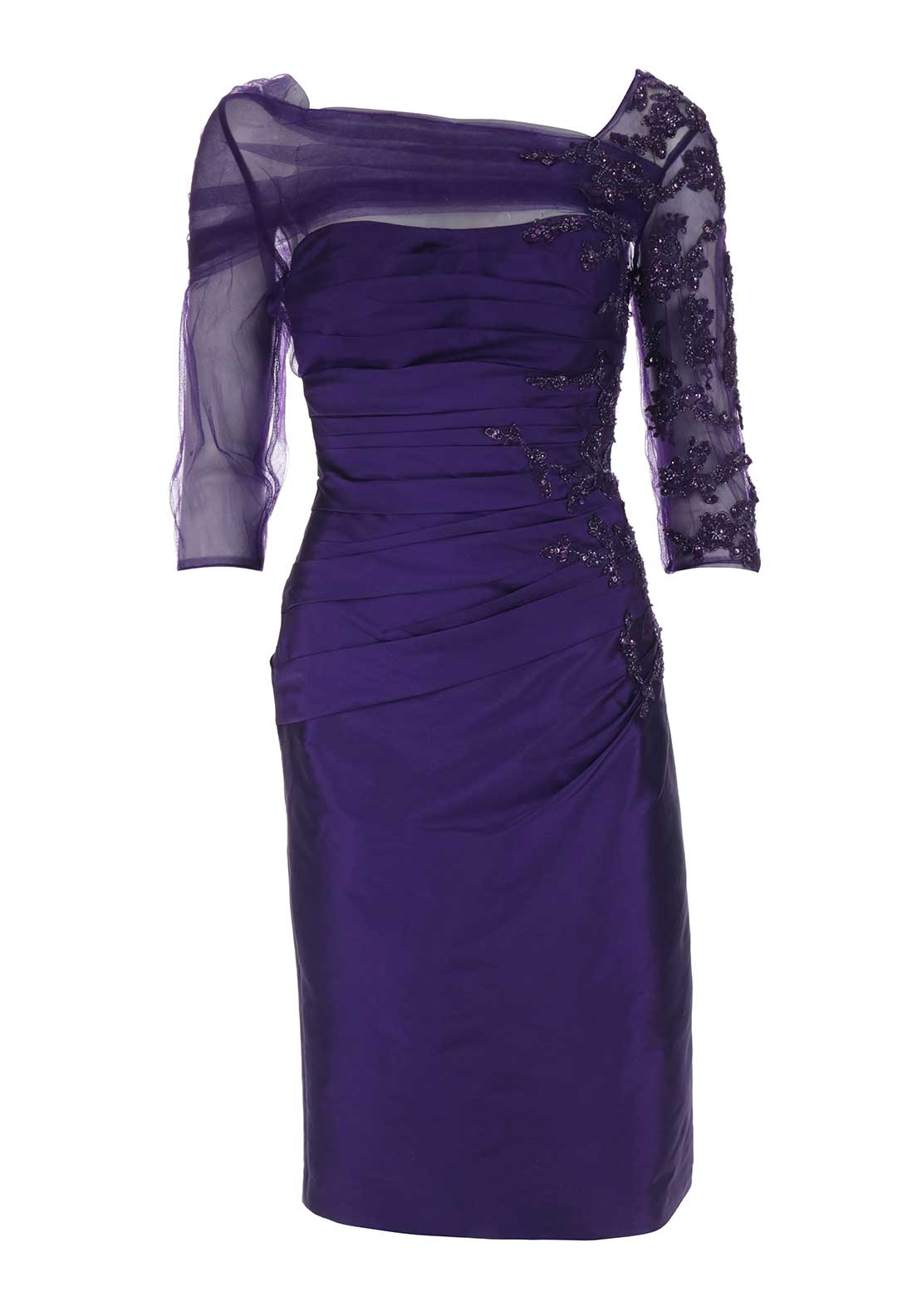 Irresistible Embellished Pencil Dress, Purple