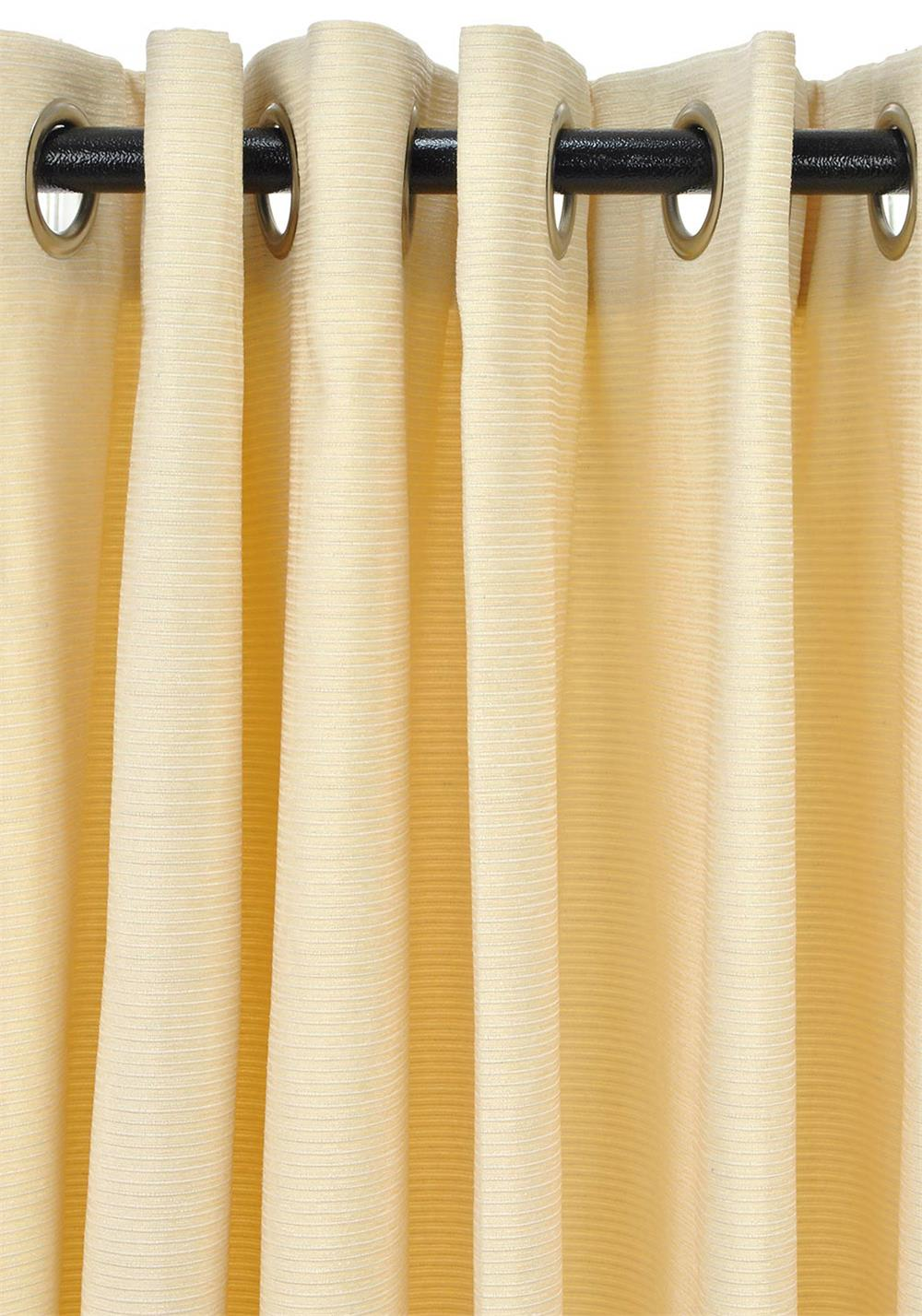 i-Style Sateen Lined Readymade Eyelet Curtains, Lagos Champagne