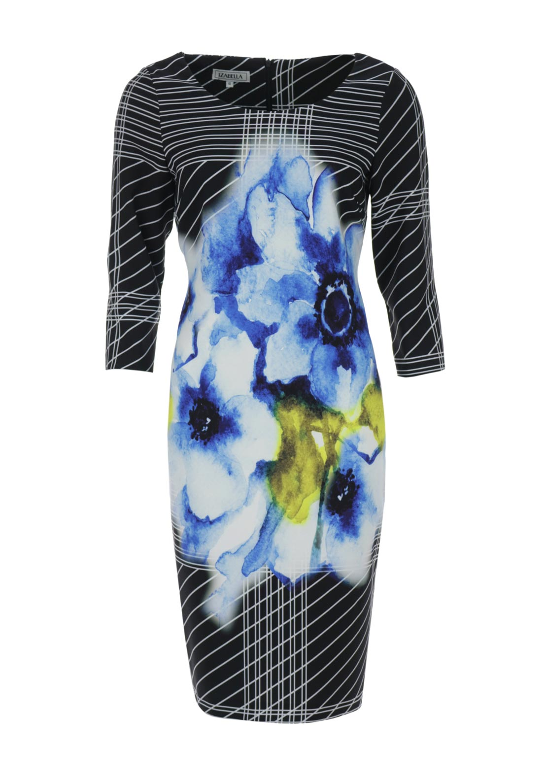 Izabella Abstract Print Pencil Dress, Multi-Coloured