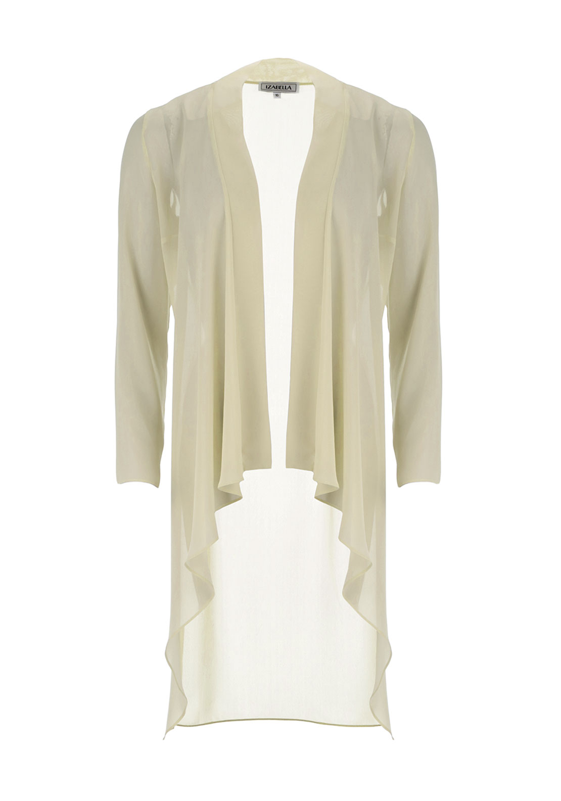 Izabella Sheer Chiffon Coat, Gold