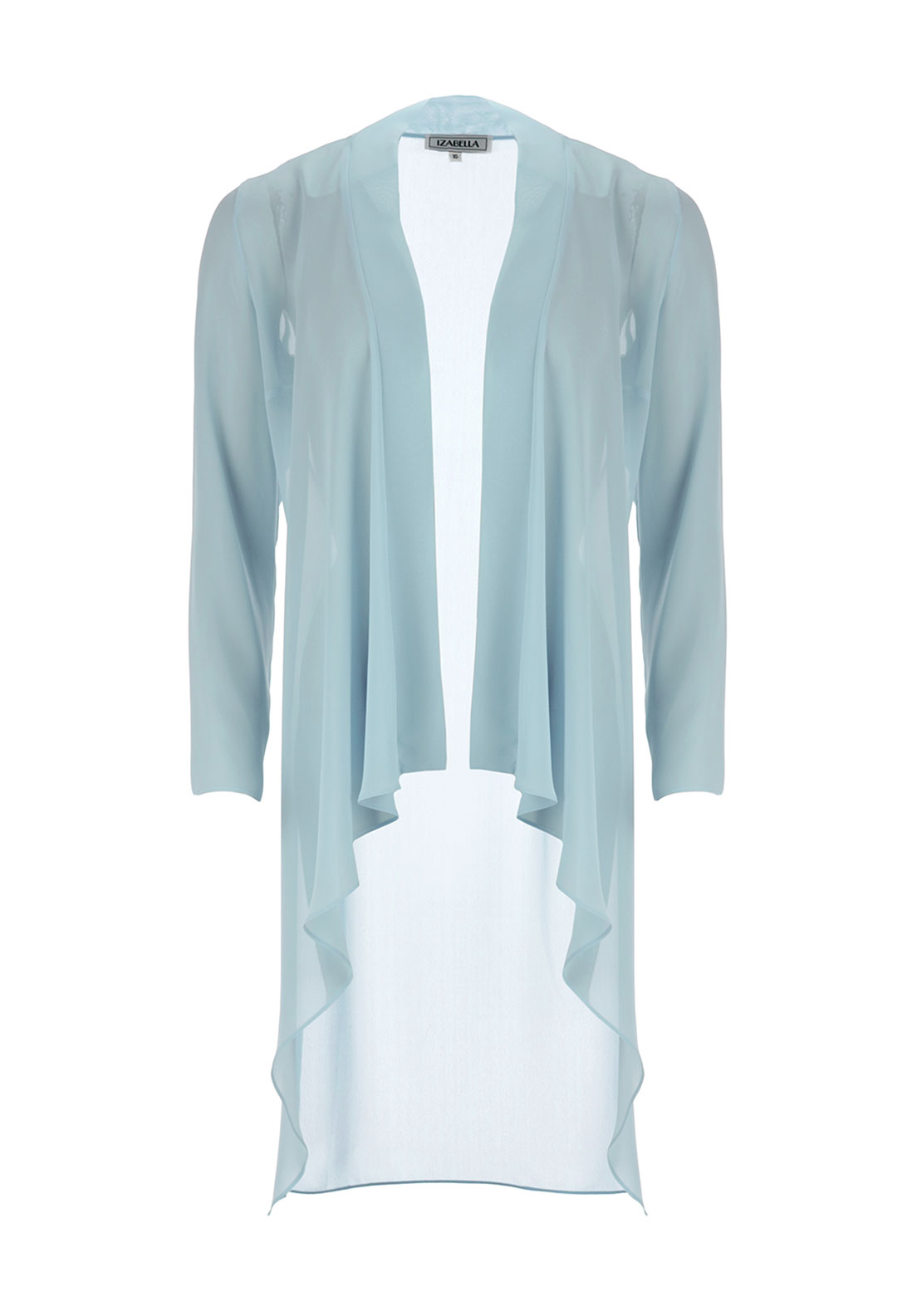 Izabella Sheer Chiffon Coat, Mint Green