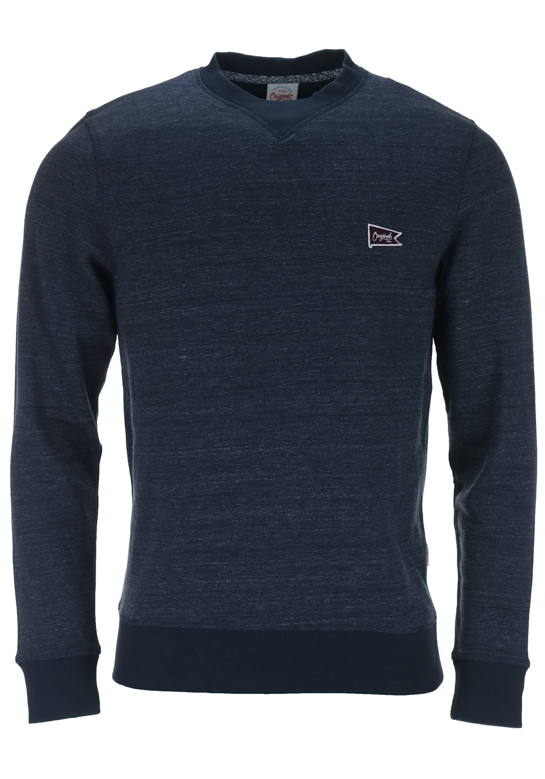 Jack & Jones Core Mens Kingpin Crew Neck Sweat, Navy Melange