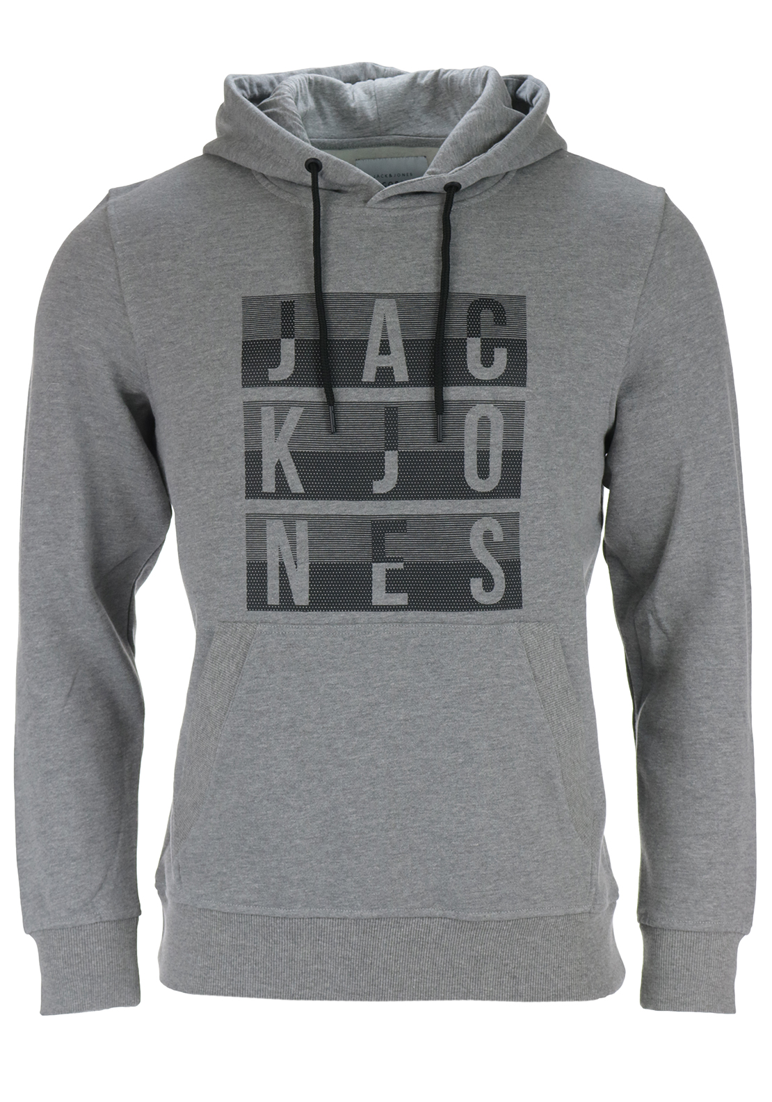 Jack & Jones Core Mens Eddy Sweat Hood, Grey