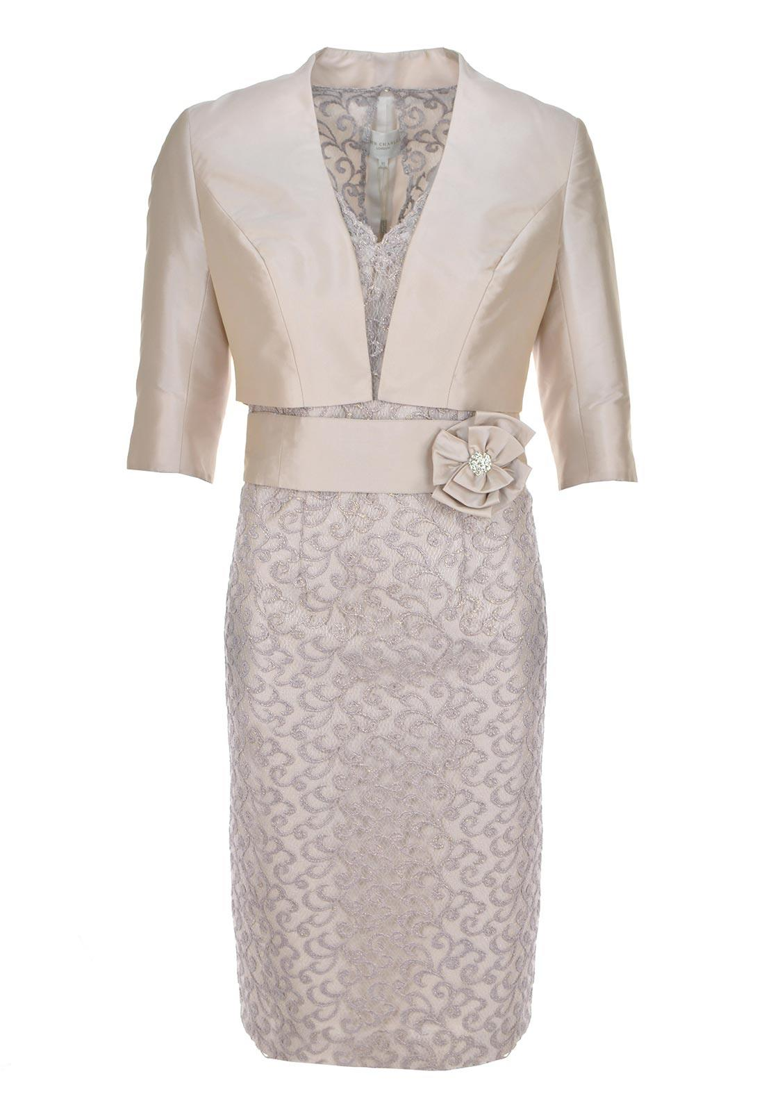 John Charles Special Occasion Dress and Bolero, Blush