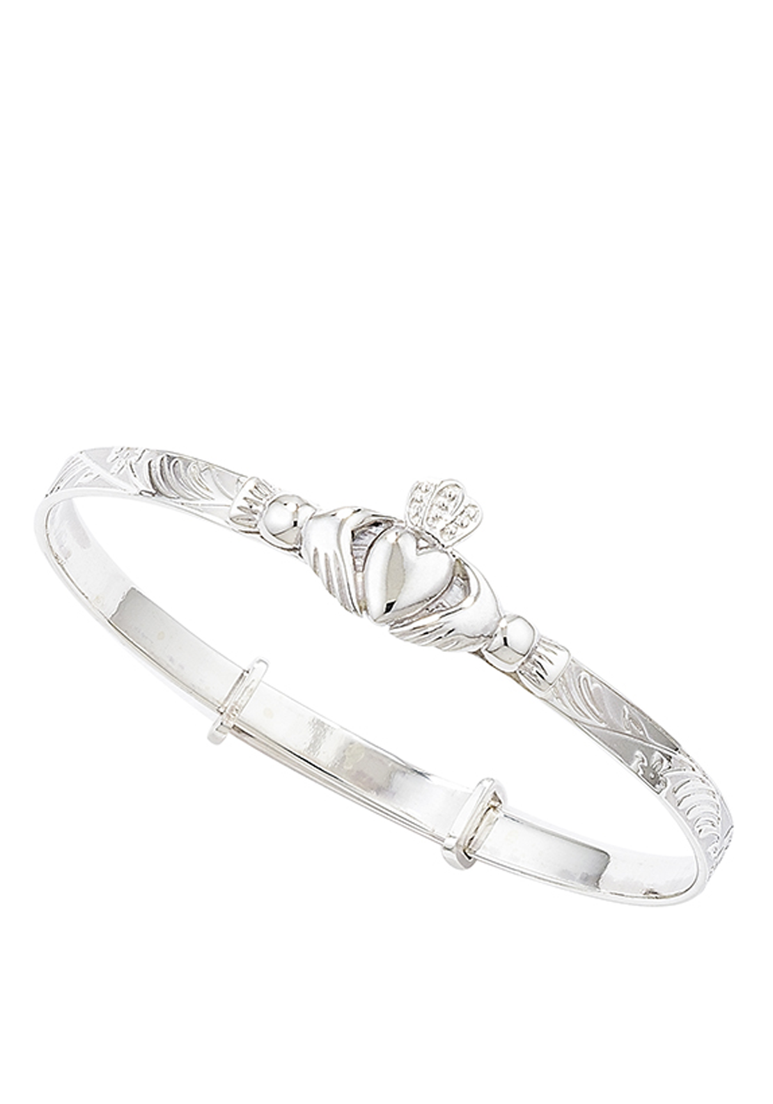 Kids Claddagh Bangle Sterling Silver