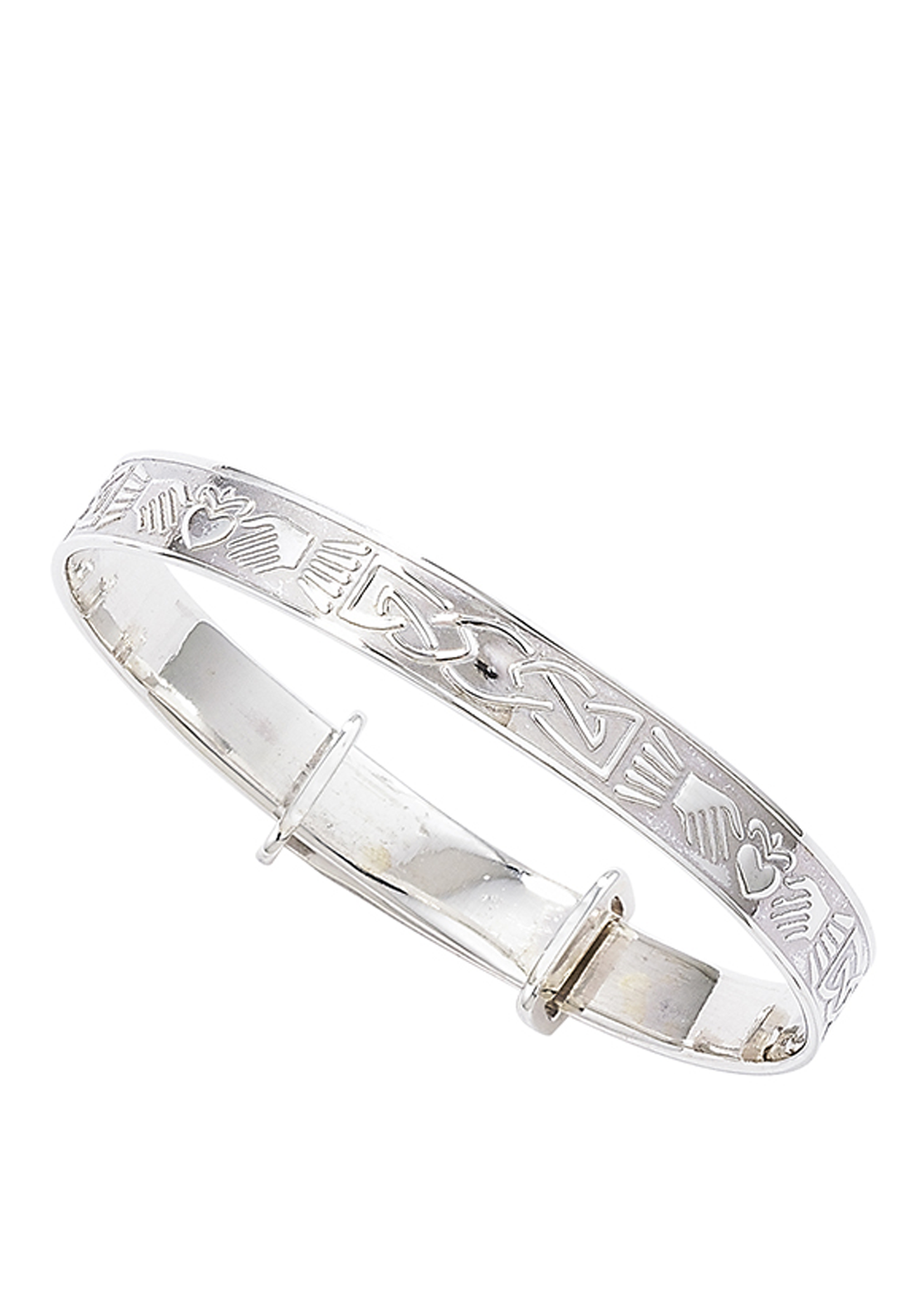Kids Sterling Silver Claddagh Bangle