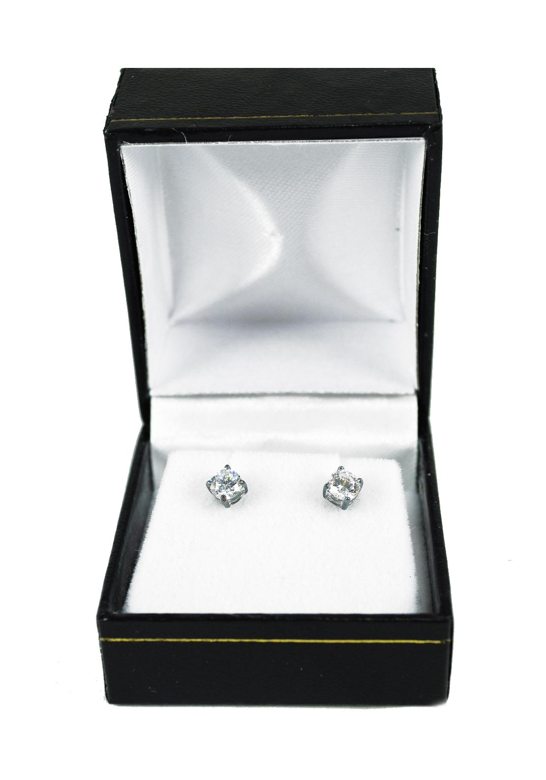 Stud Earrings, Oval Diamante