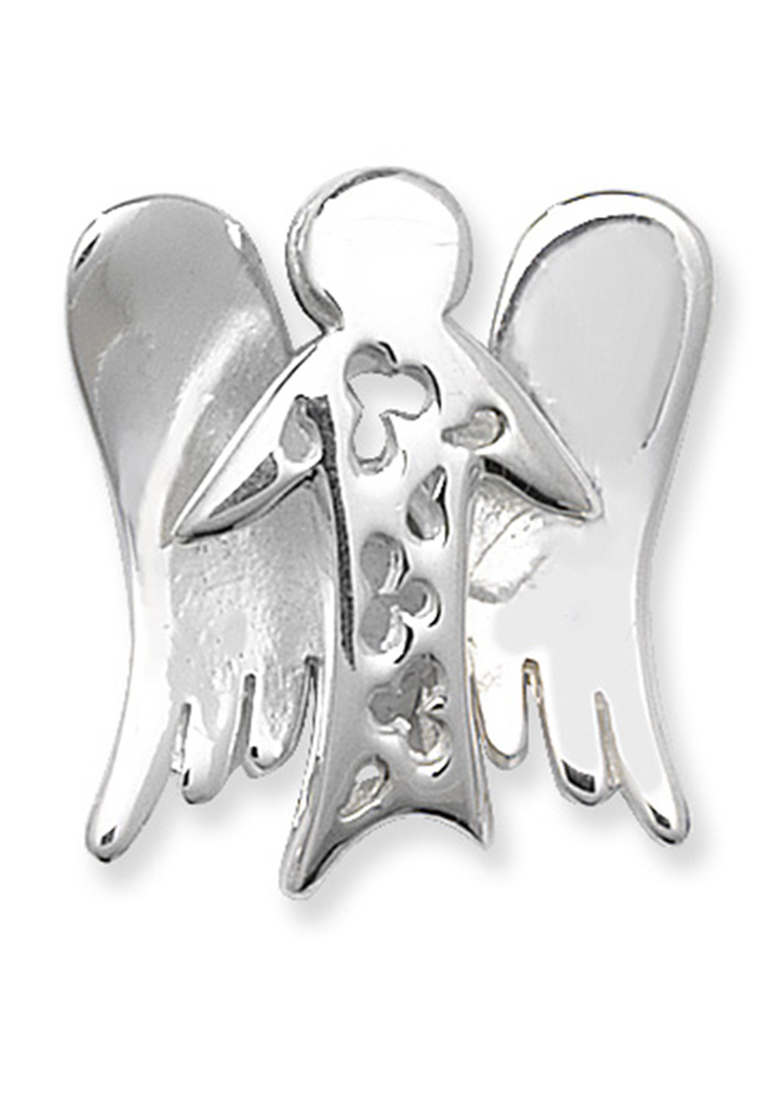 Girls Sterling Silver Angel Pendant and Chain