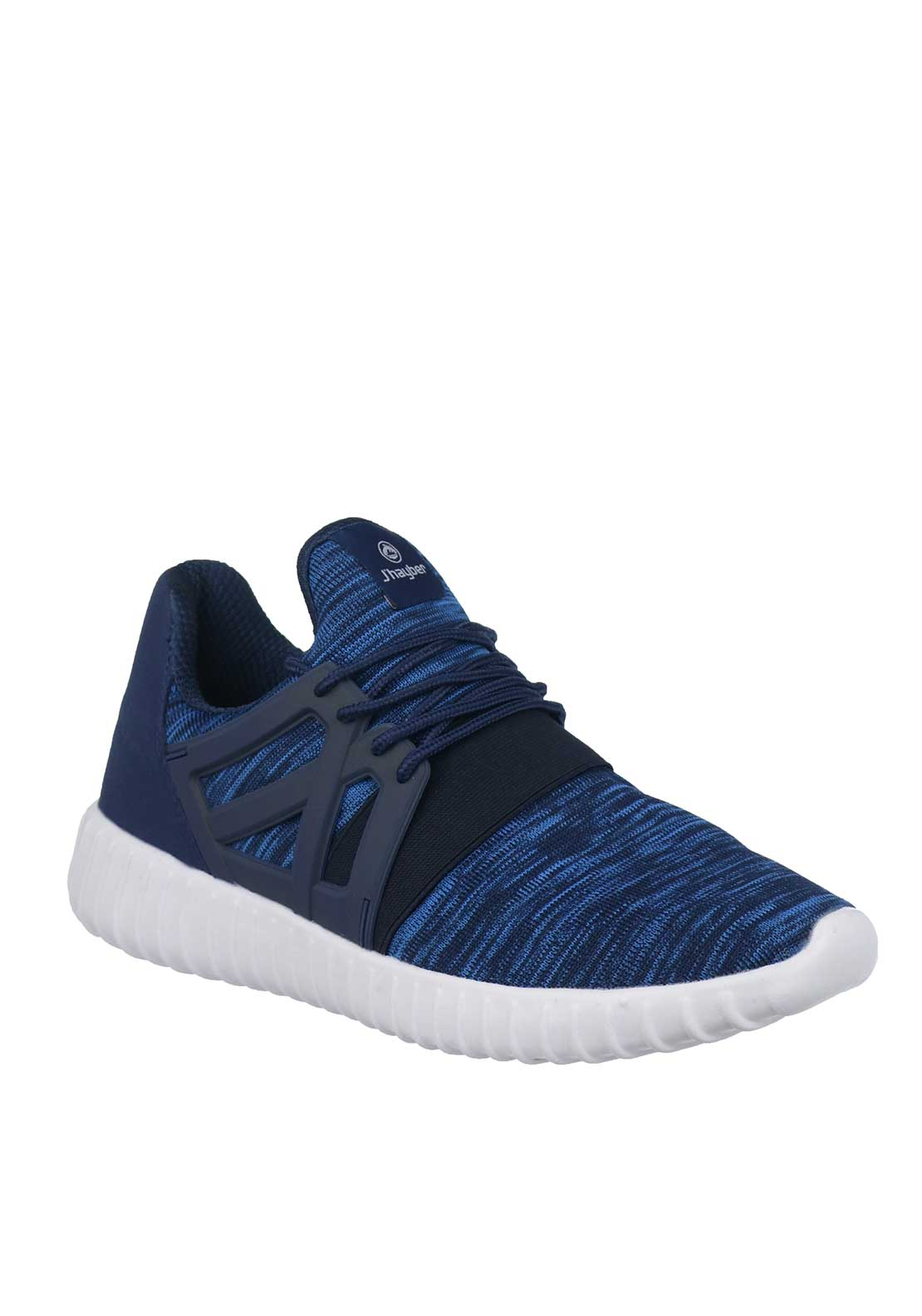 J'hayber Woven Knit Lace Trainers, Navy