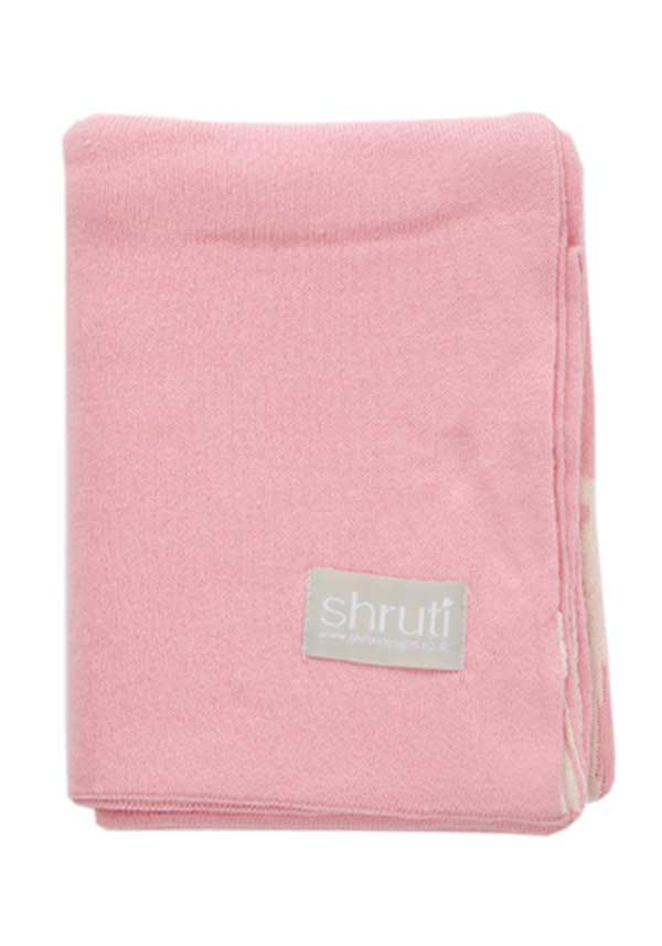 Shruti Baby Knitted Hush Little Baby Blanket, Baby Pink