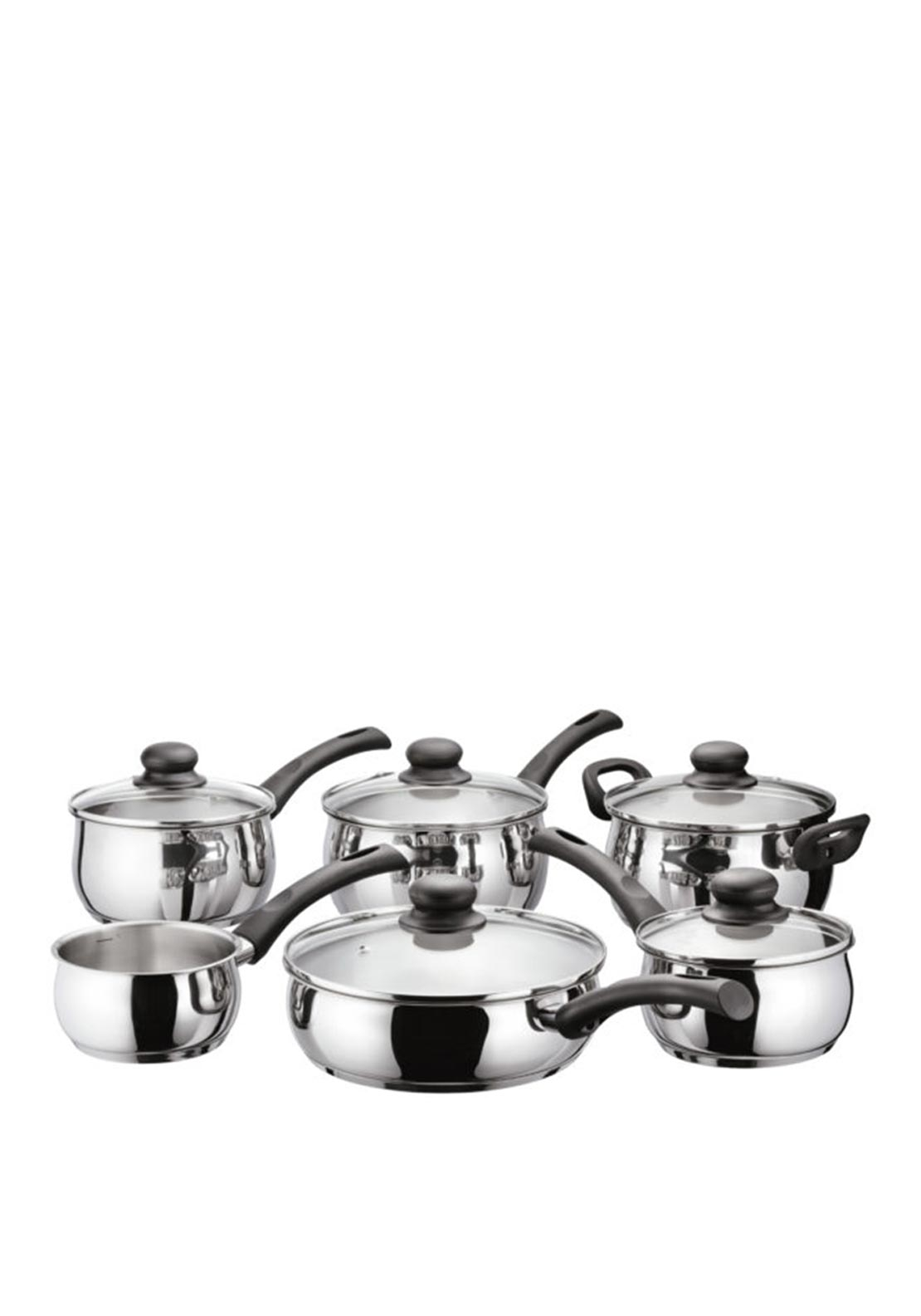 Judge Vista 6 Piece Saucepan Set, Silver