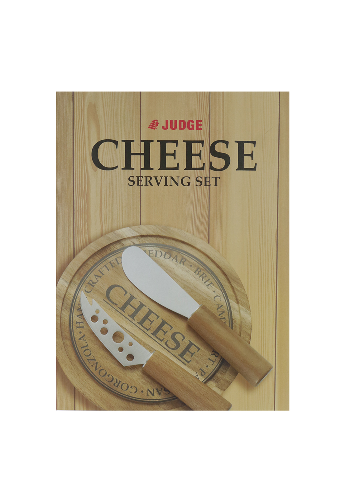Judge 3 Piece Cheese Board Serving Set