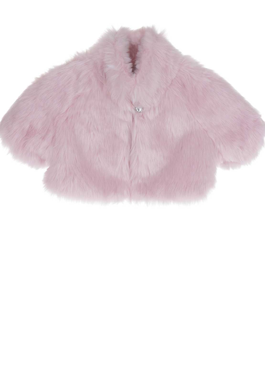 Kate Mack Faux Fur Bolero Jacket, Pink
