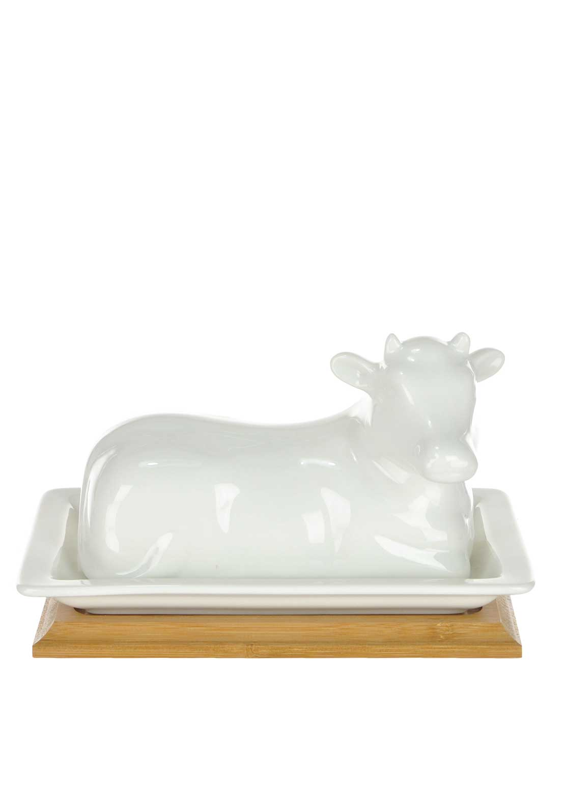Slaneyside Pottery Cow Butter Dish, White