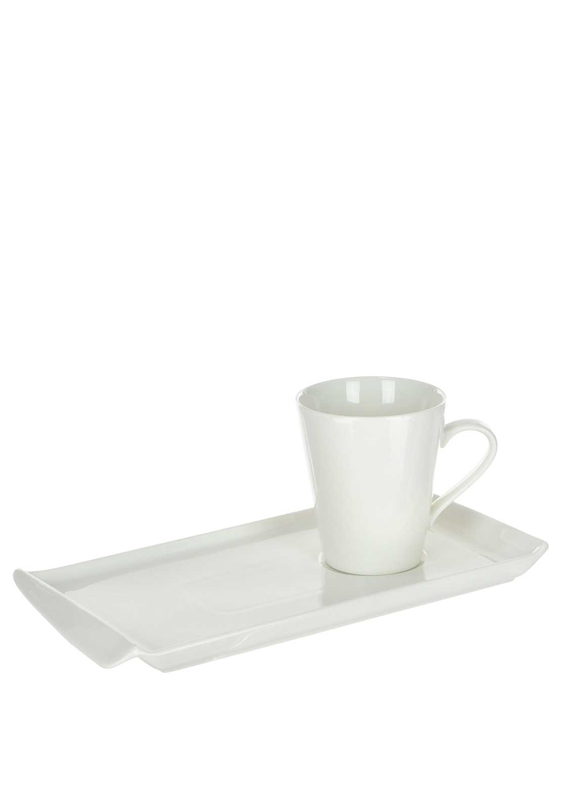 Slaneyside Pottery Tea and Sandwich Plate, White
