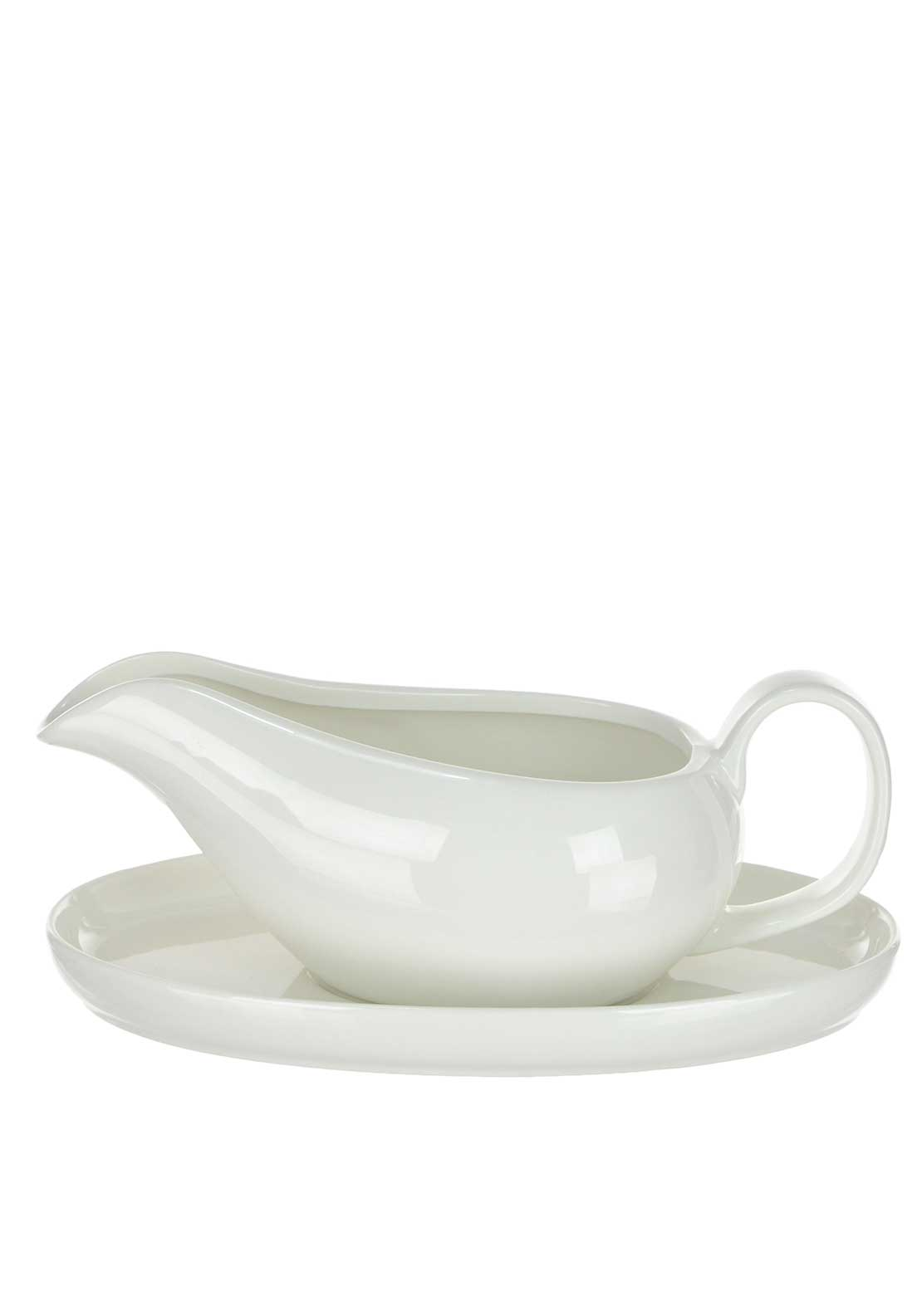 Slaneyside Pottery Gravy Boat on Stand, White