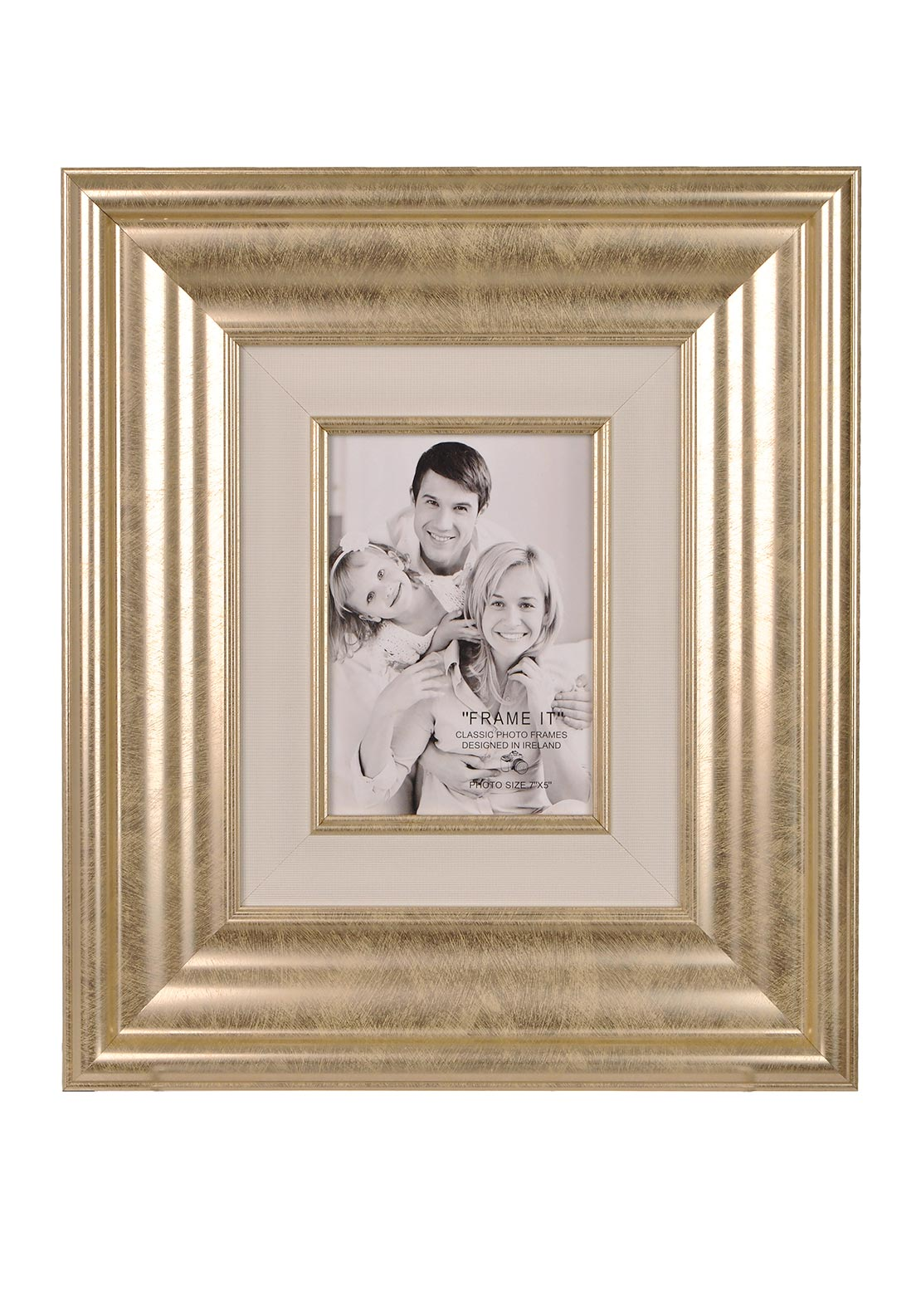 "McElhinneys Classic Frame It Photo Frame 7"" x 5"", Gold"