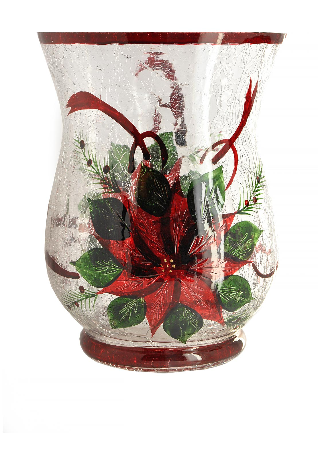Festive Glass Candle Holder Large