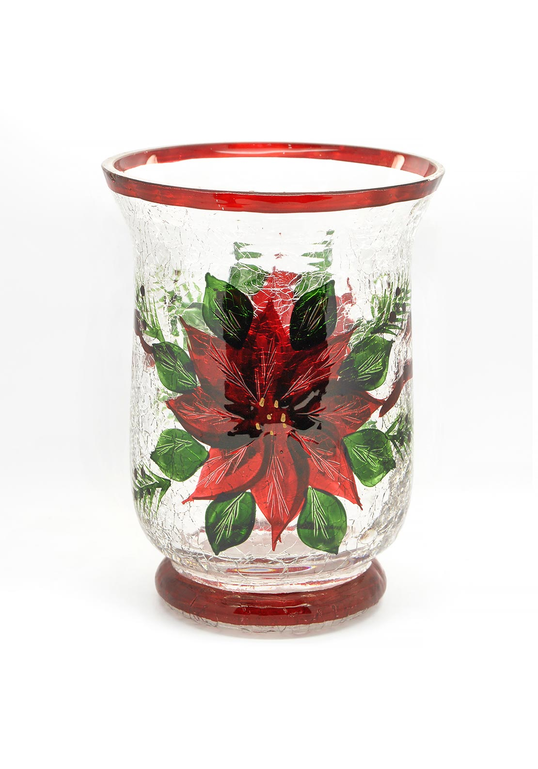 Festive Glass Candle Holder Small