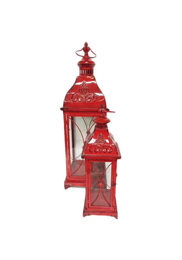 Slaney Side Aoife Red Lanterns, Set of 2