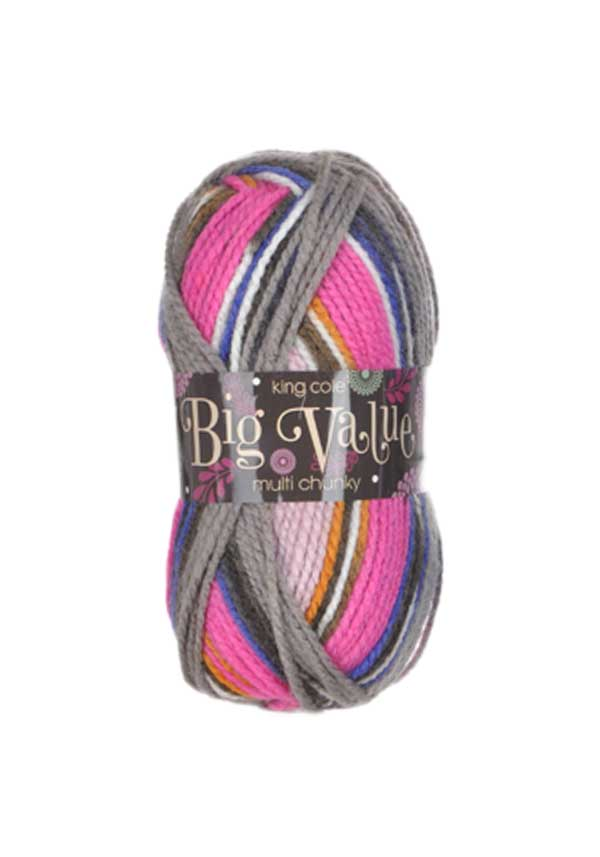 King Cole Big Value Multi Chunky Wool, 1000 Palette
