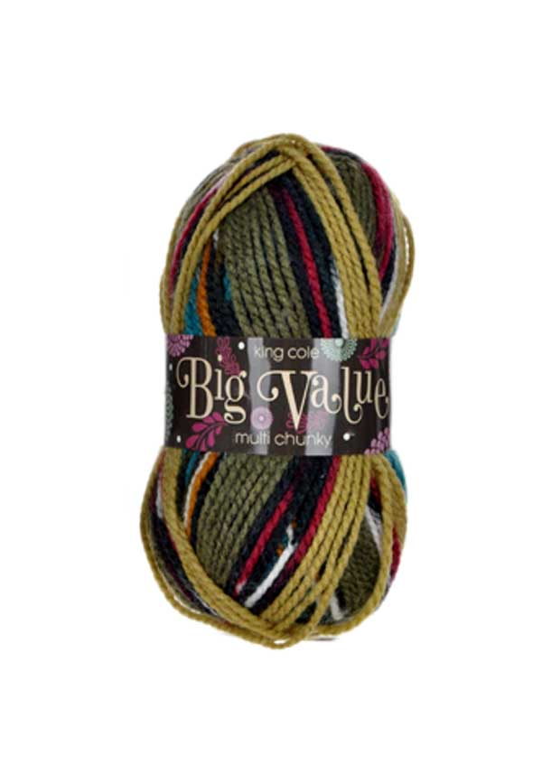 King Cole Big Value Multi Chunky Wool, 1001 Pasture