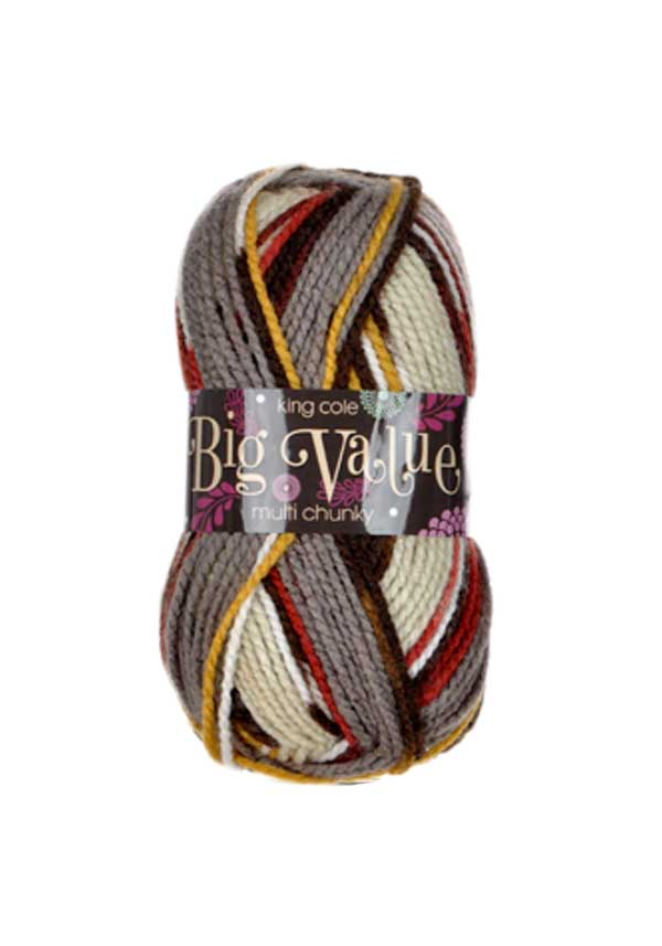 King Cole Big Value Multi Chunky Wool, 1002 Sandy