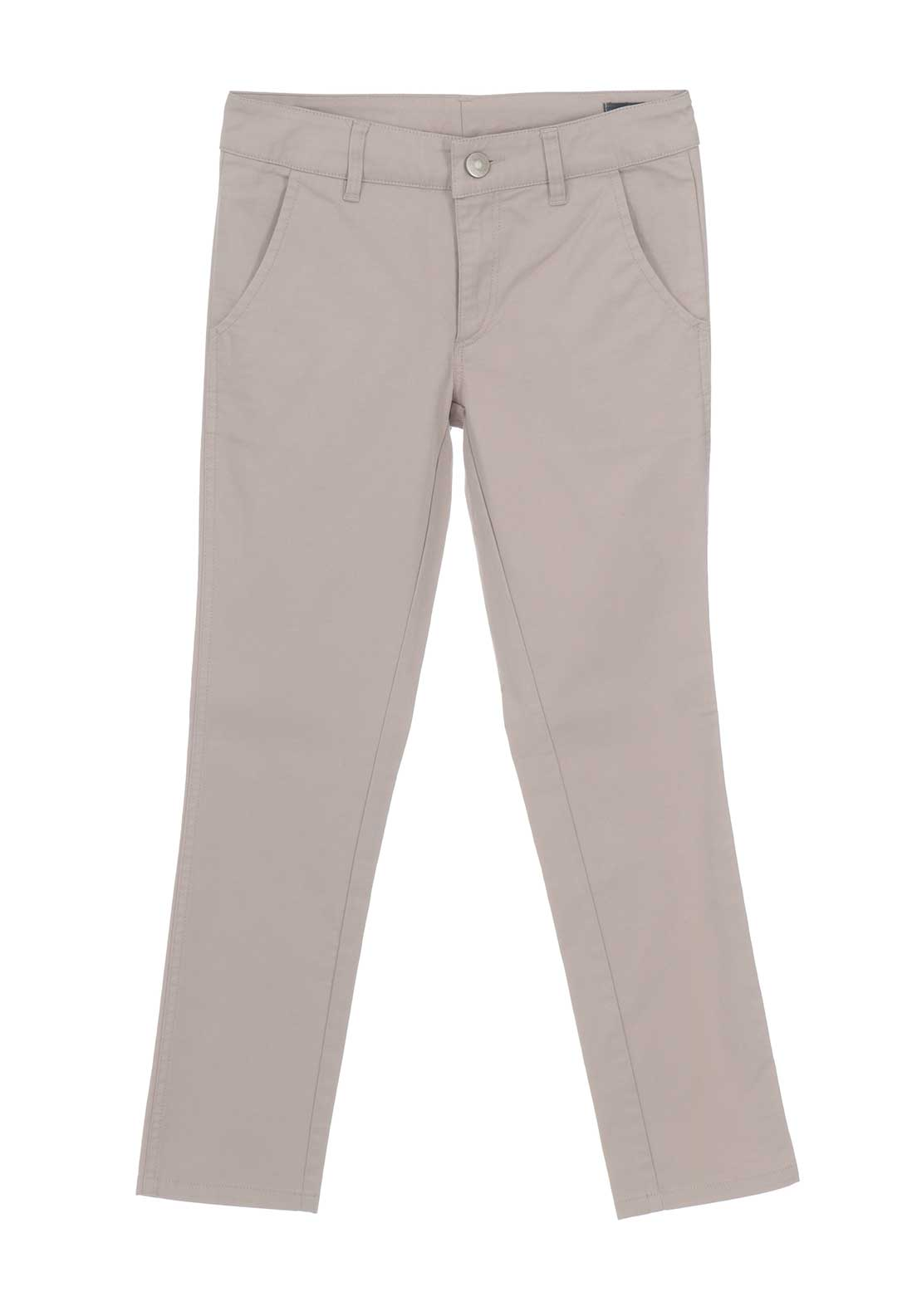 Weise Boys Slim Leg Chino Trousers, Beige