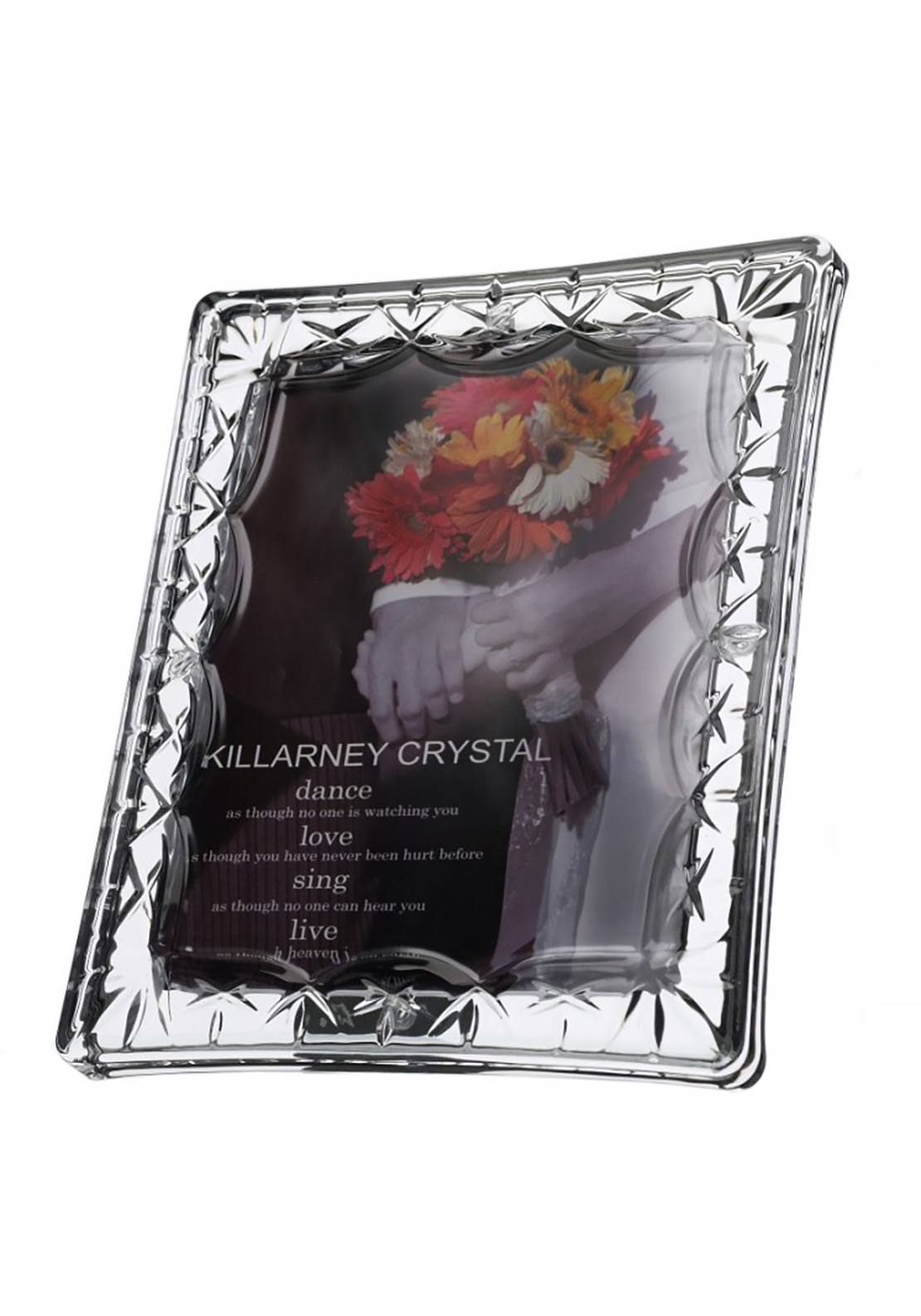 Killarney Crystal Ireland Cherish Photo Frame 5x7, Glass