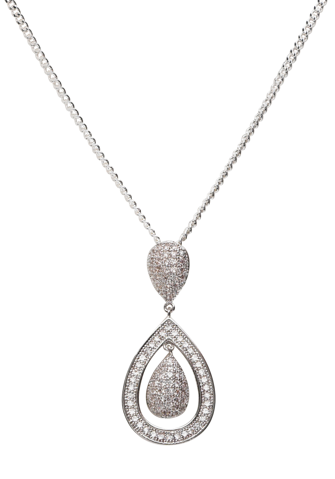 Killarney Crystal Micro Open Teardrop Pendant