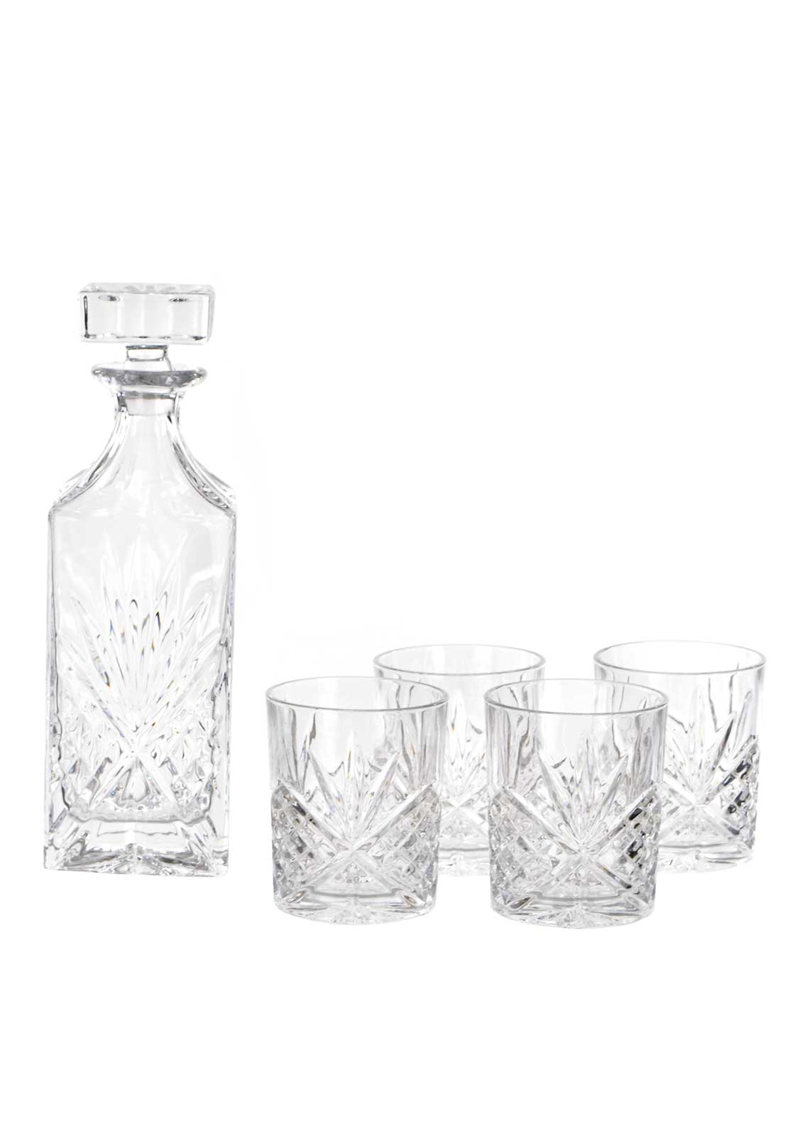 Killarney Crystal Ireland Trinity Decanter Set, Glass
