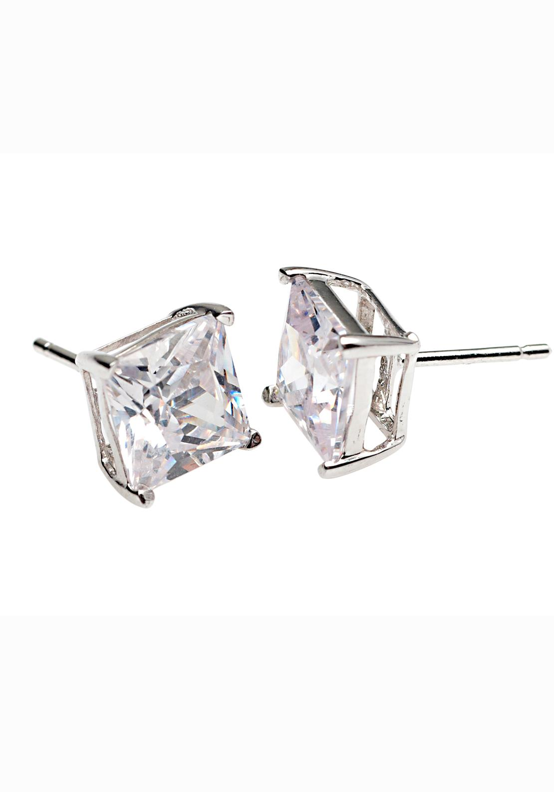 Killarney Crystal Opulence Square Solitaire Earrings