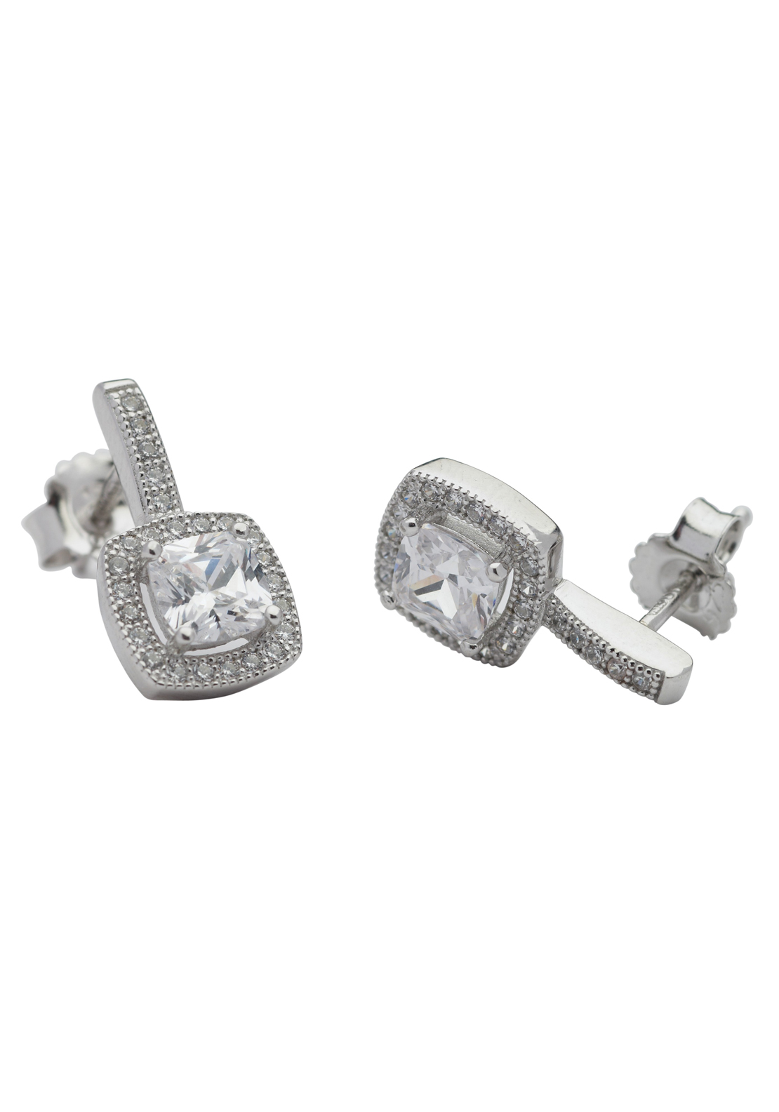 Killarney Crystal Finesse Large Square Earrings