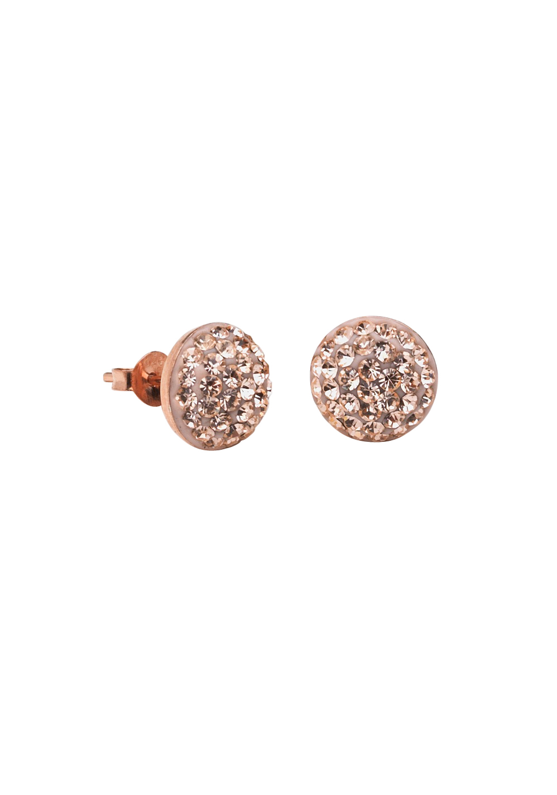 Killarney Crystal Venus Rose Gold Plated Studded Earrings