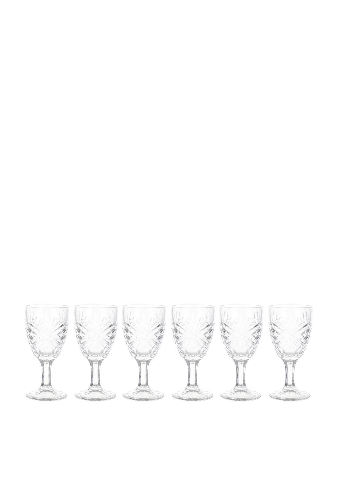 Killarney Crystal Trinity Sherry Glasses, Set of 6