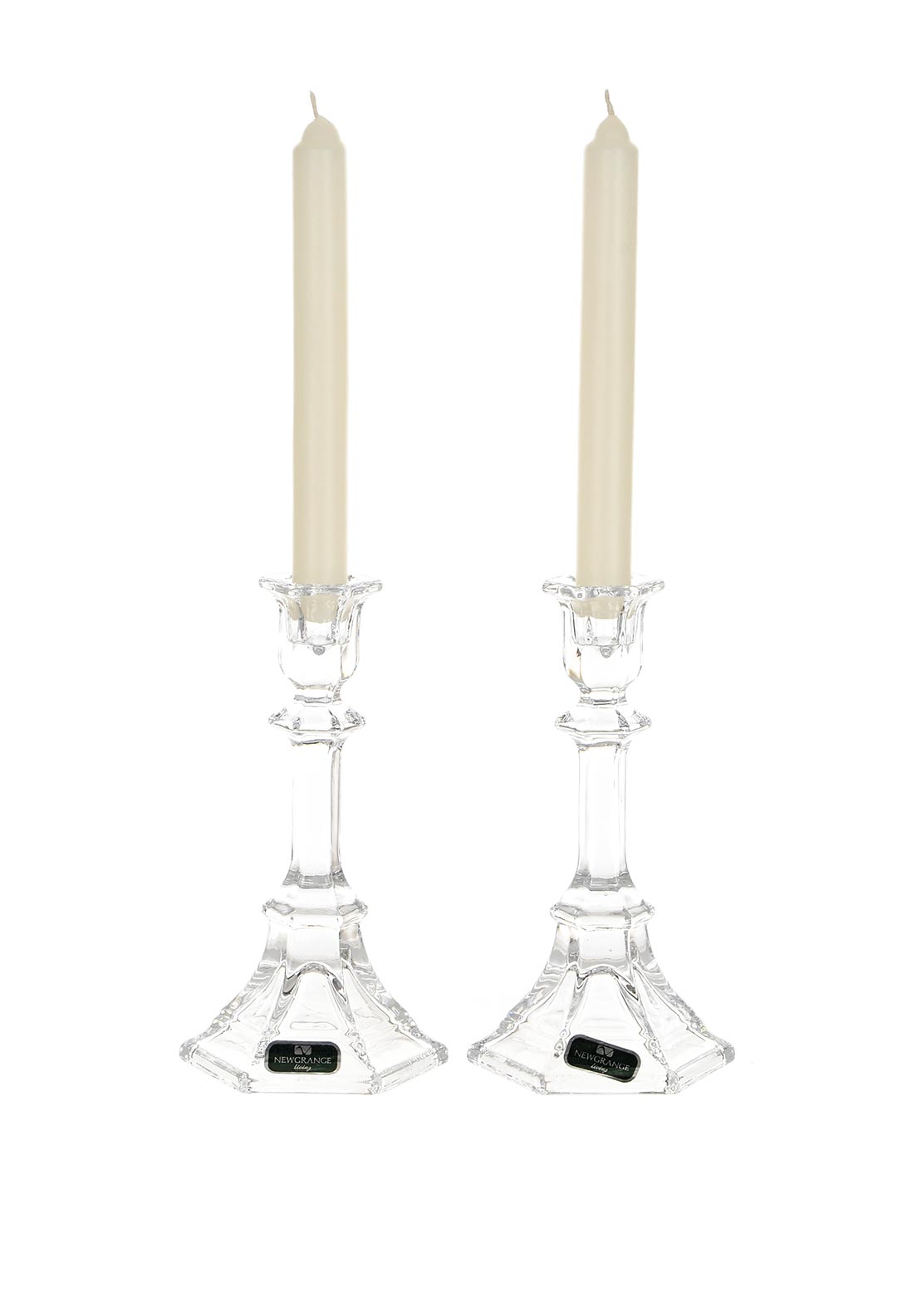 Newgrange Living Set of 2 Paris Candlesticks, 19.5cm