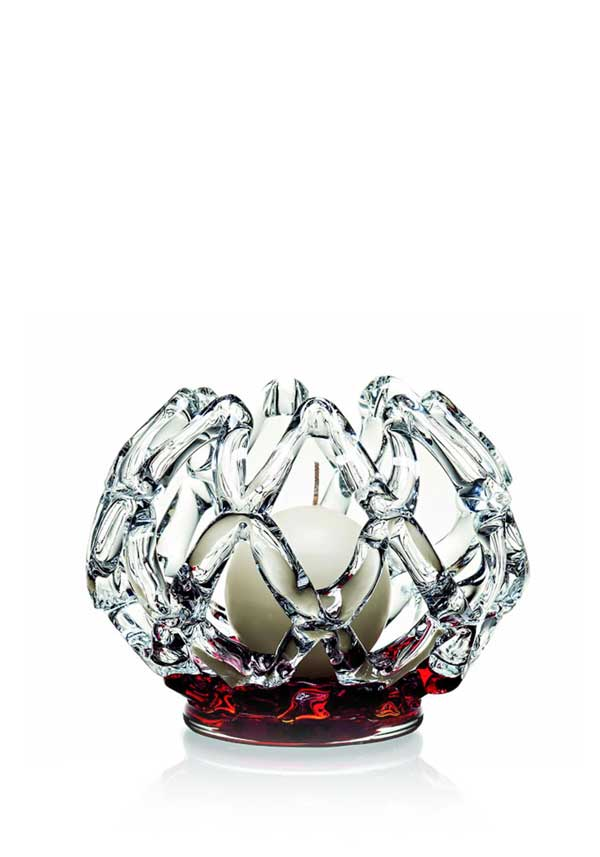 Newgrange Living Inet Ball Candle Holder, Red