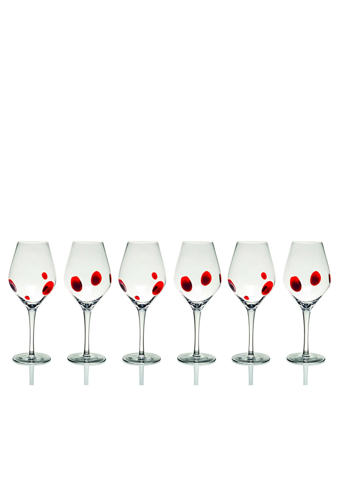 Newgrange Living Red Galaxy Wine Goblet, Set of 6