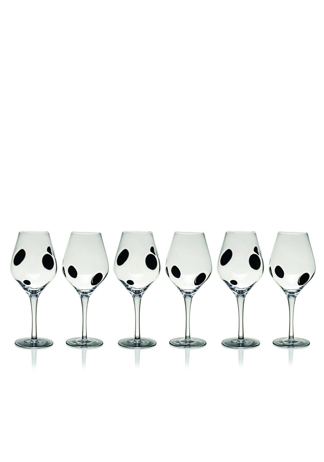 Newgrange Living Black Galaxy Wine Goblet, Set of 6