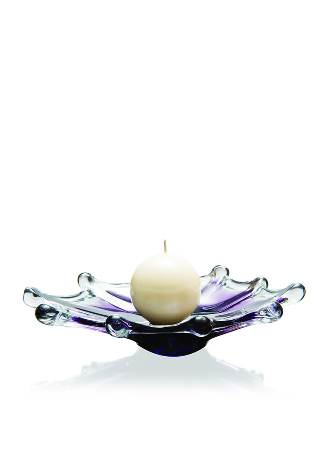 Newgrange Living Inksplash Ball Candleholder 22cm, Purple