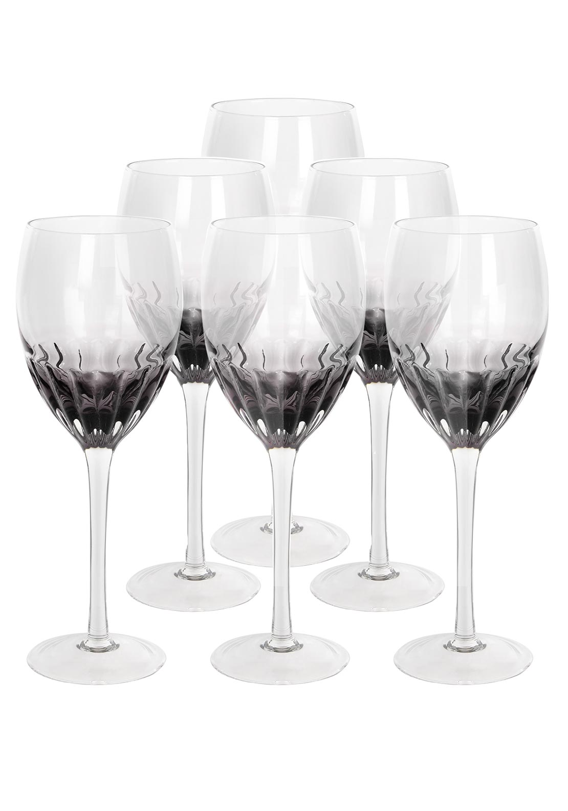 Newgrange Living Smoky Lumina Wine Glass, Set of 6