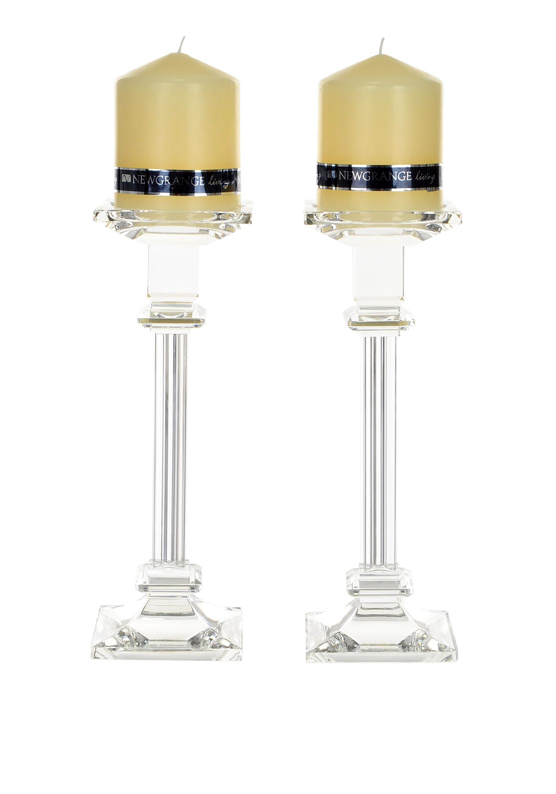 Newgrange Living Liberty Pillar Candlesticks, Set of 2