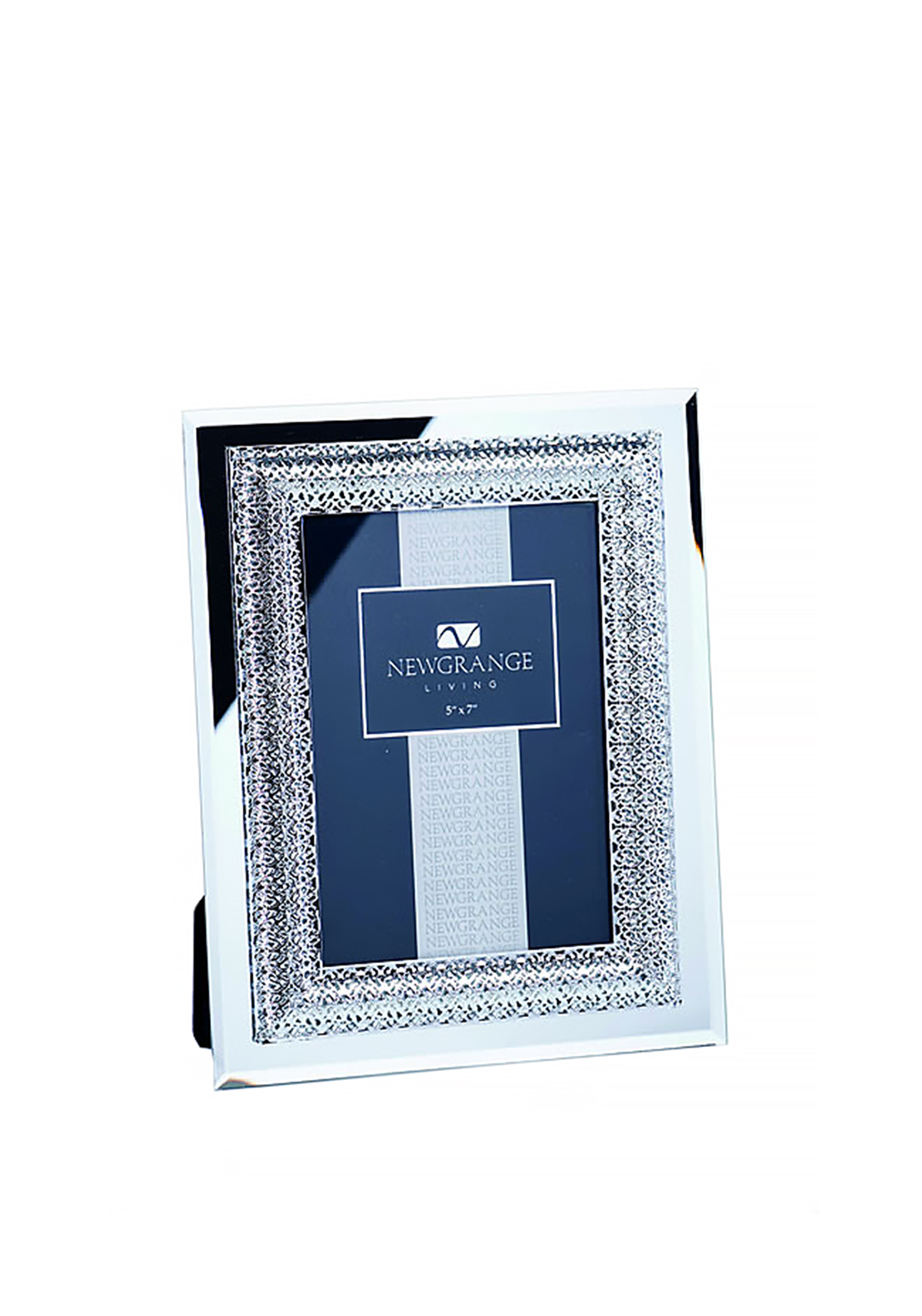 Newgrange Living Lattice Photo Frame 5x7, Silver