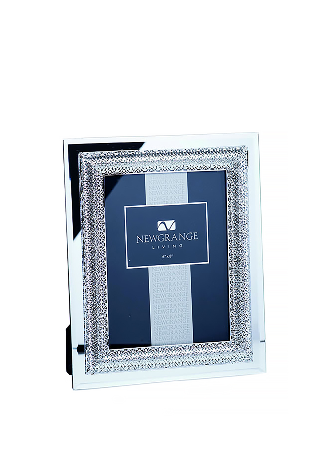"Newgrange Living Lattice Photo Frame 6""x 8"", Silver"