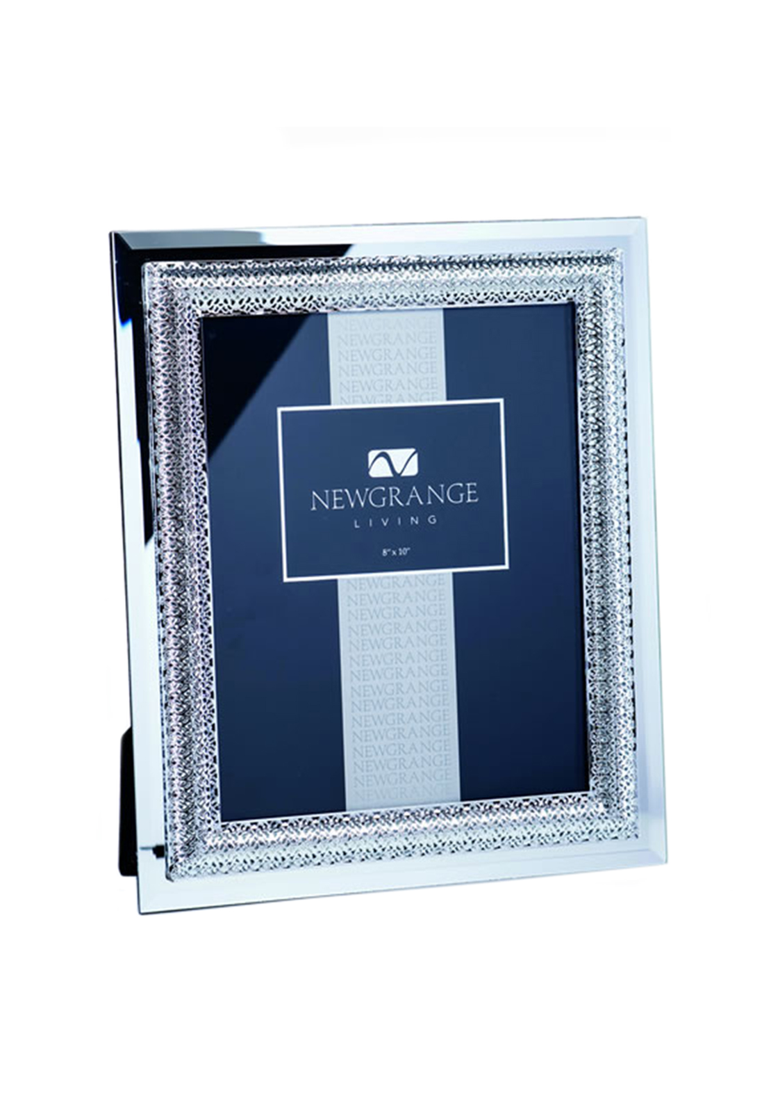 "Newgrange Living Lattice Photo Frame 8"" x 10"", Silver"